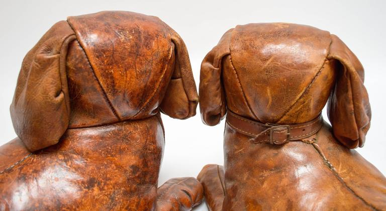 Pair Of Leather King Charles Spaniels By Omersa For
