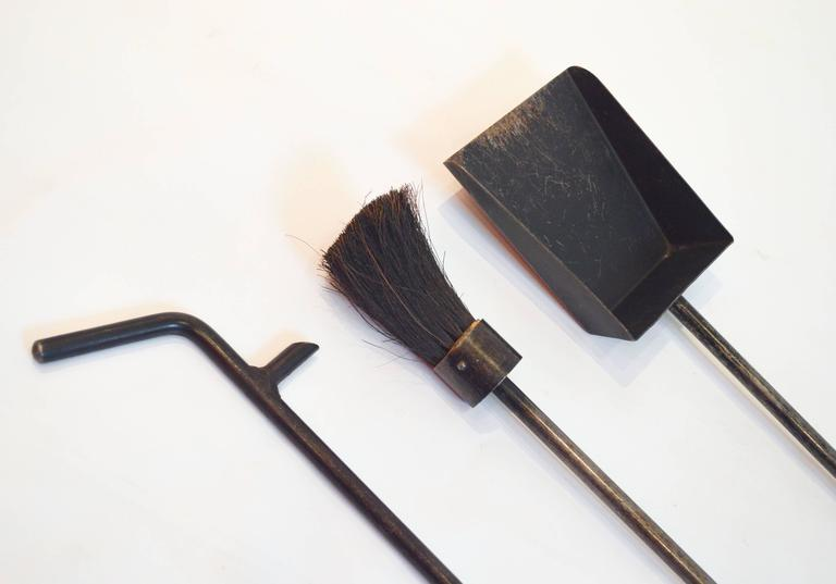Mid Century Modern Set Of George Nelson Fireplace Tools For Sale At 1stdibs