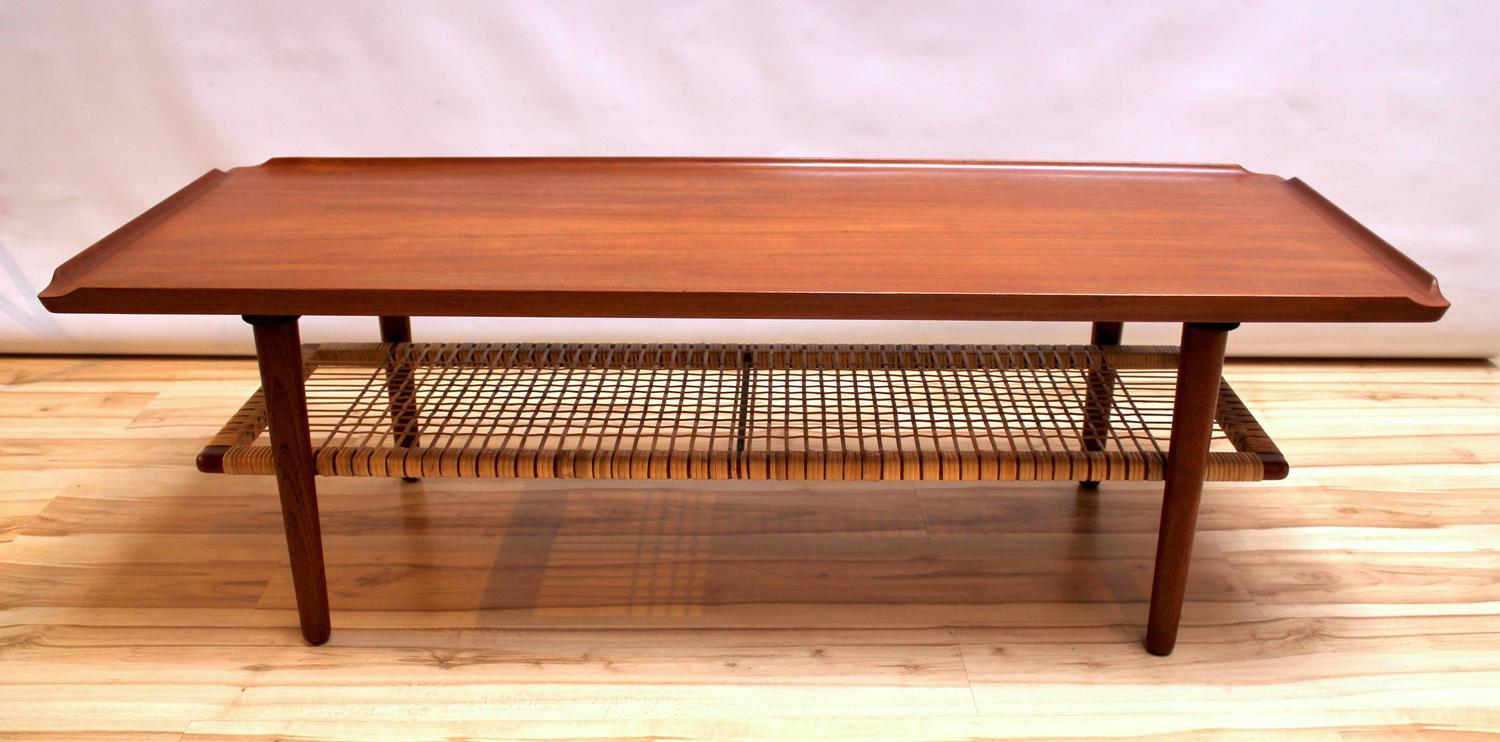 Danish modern poul jensen teak coffee table at 1stdibs Modern teak coffee table