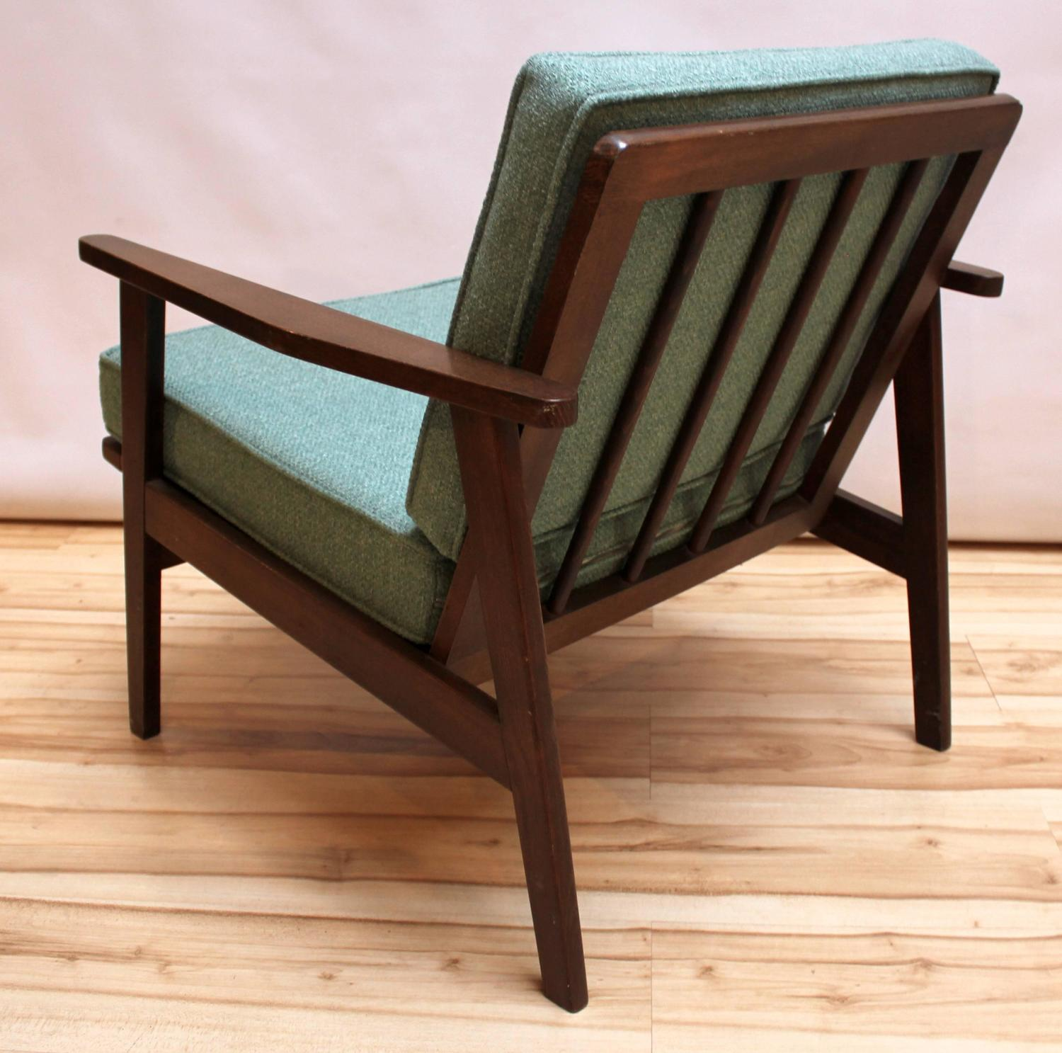 Mid Century Modern Chair 1950s California: Pair Of 1950s Japanese Mid-Century Modern Upholstered
