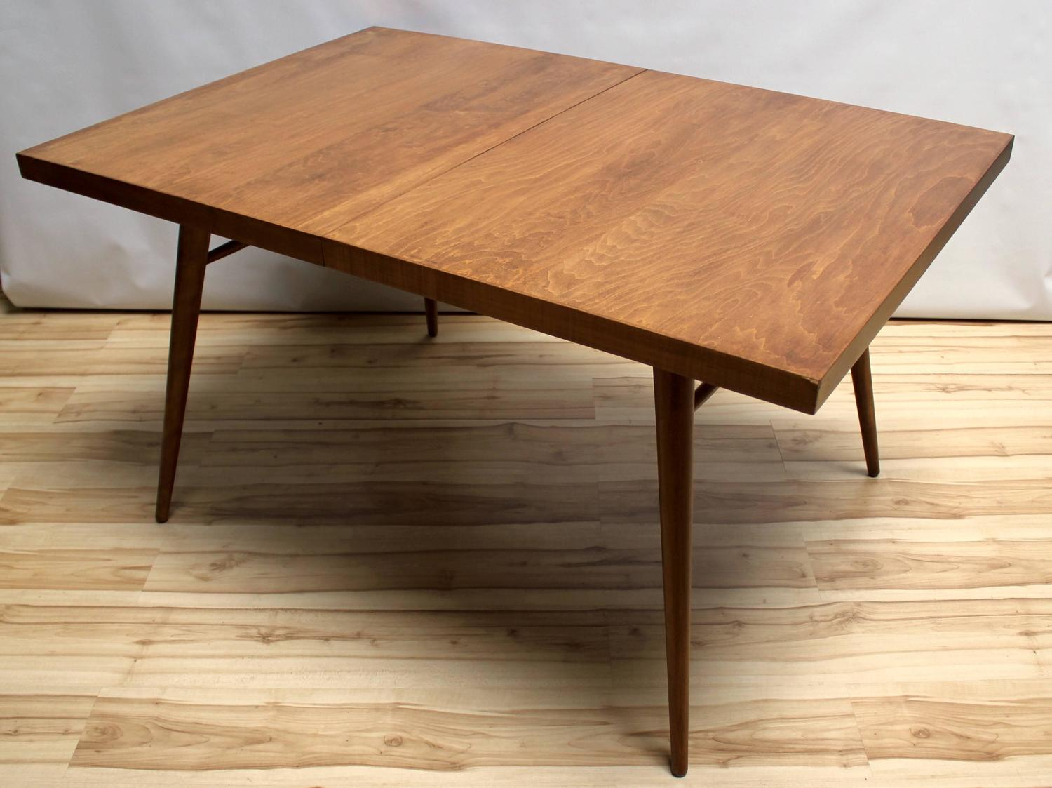 1950s paul mccobb planner group maple dining table with two leaves at 1stdibs. Black Bedroom Furniture Sets. Home Design Ideas