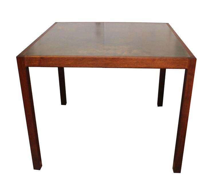 Harry Lunstead Walnut And Bronze Dining Table At 1stdibs