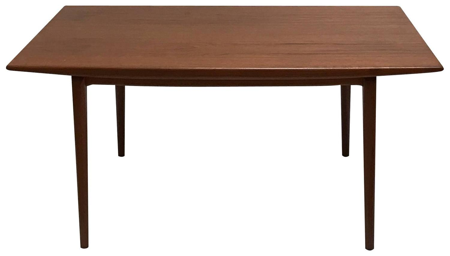 1959 danish modern teak dining table by erik christiansen for Most beautiful dining room tables