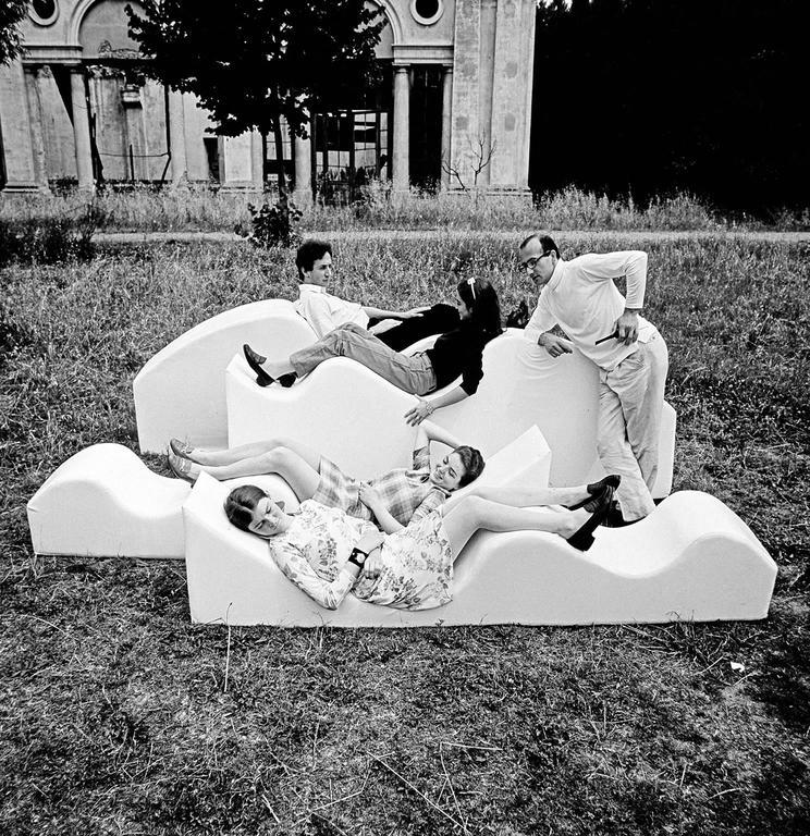 Italian Superonda Sofa by Poltronova For Sale