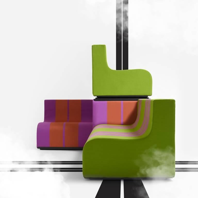 Italian SOFO Armchair by Superstudio For Sale