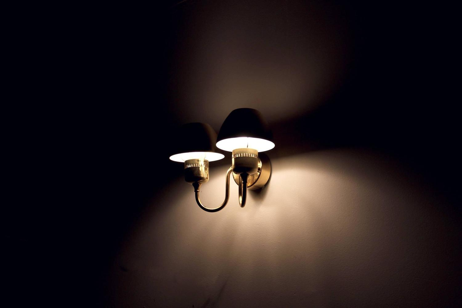 Pair of Wall Lights in Brass by Hans-Agne Jakobsson, 1960s For Sale at 1stdibs