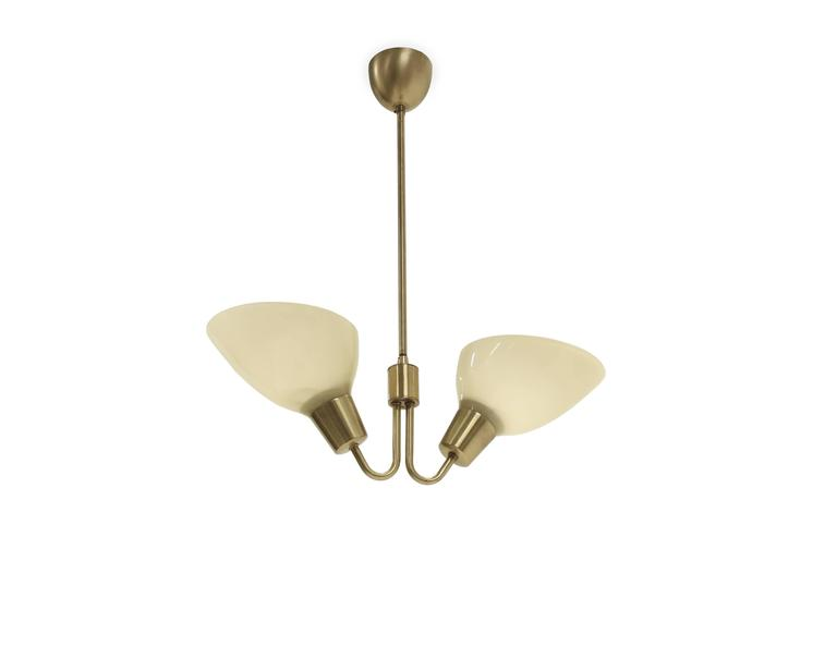 Mid-20th Century Scandinavian Mid-Century Ceiling Light in Brass, 1960s For Sale