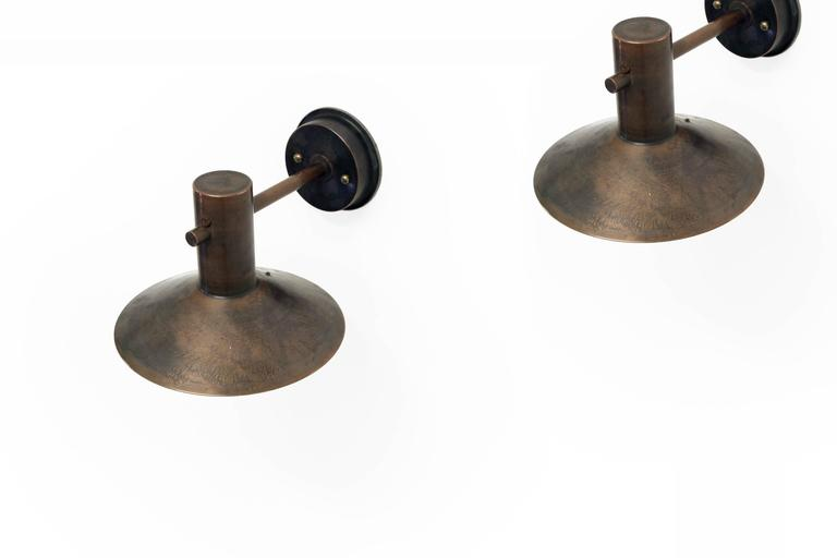 Pair of Mid Century Outdoor Lights by Finn Lunde 1970s at