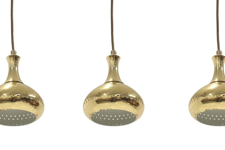 mid century pendant lighting. set of seven scandinavian midcentury pendant lights in brass 1960s 3 mid century lighting