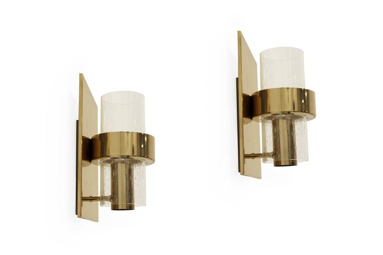 Pair of Scandinavian Wall Lights by Jonas Hidle, Norway, 1970s For Sale at 1stdibs