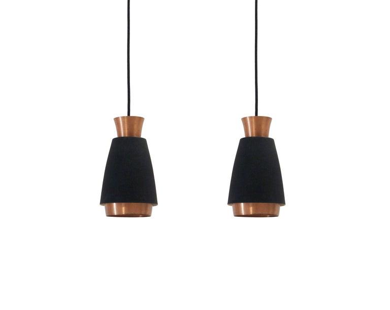 Mid-Century Modern Pair of Scandinavian Ceiling Pendants, 1960s For Sale