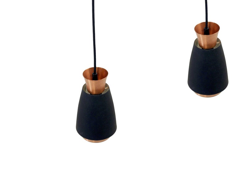 Pair of Scandinavian Ceiling Pendants, 1960s In Excellent Condition For Sale In Oslo, NO