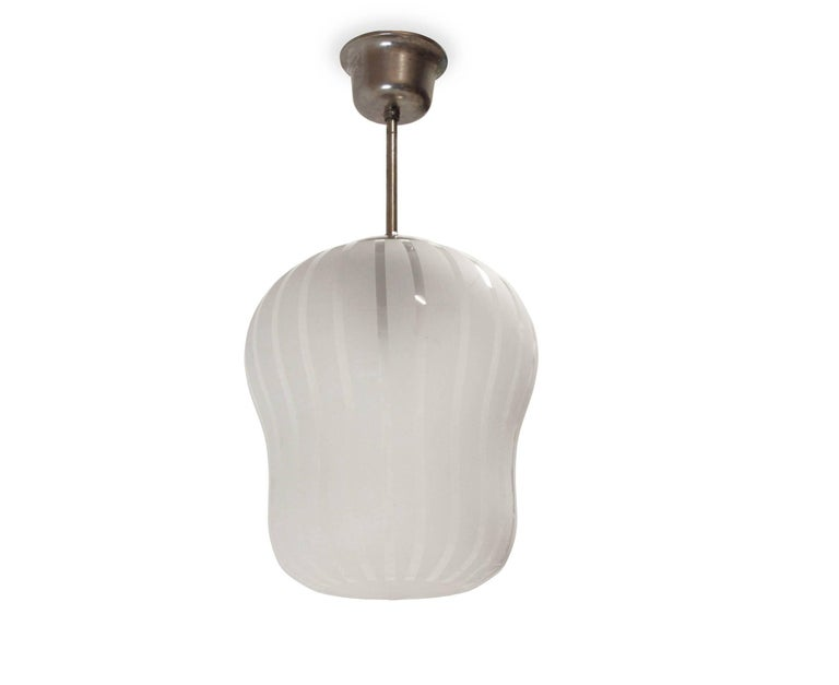 Mid-Century Modern Large Functionalist Ceiling Light by Gunnel Nyman, Sweden, 1950s For Sale