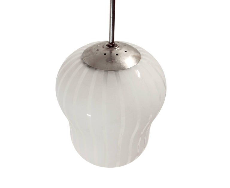 Swedish Large Functionalist Ceiling Light by Gunnel Nyman, Sweden, 1950s For Sale
