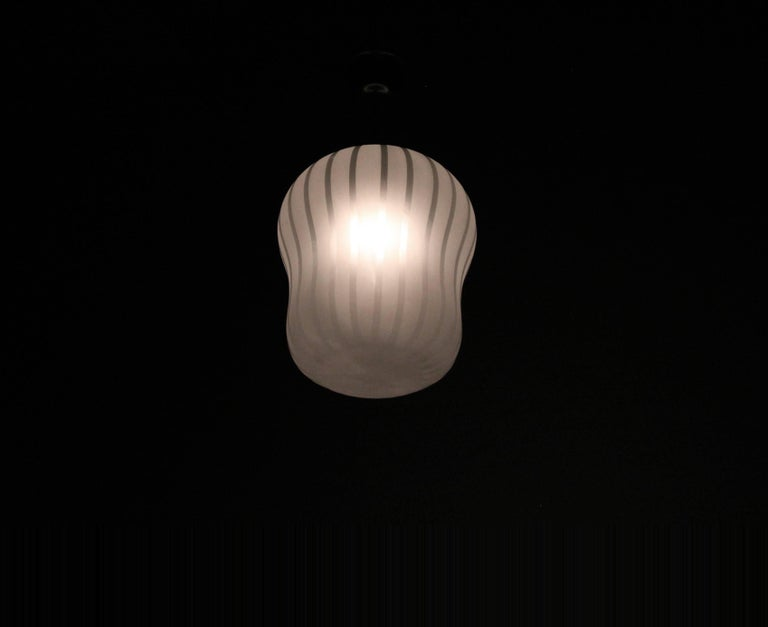 Large Functionalist Ceiling Light by Gunnel Nyman, Sweden, 1950s In Good Condition For Sale In Oslo, NO