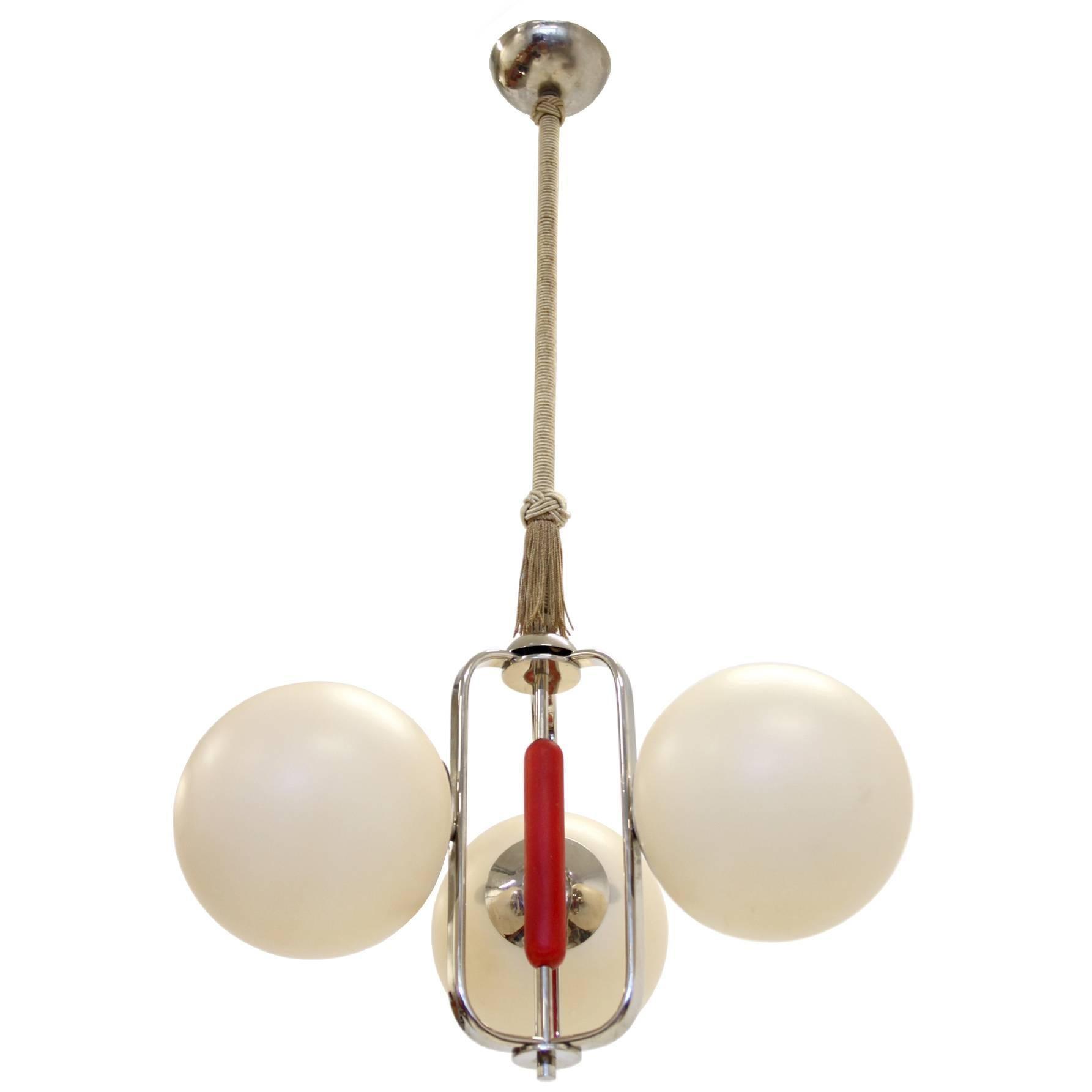 Scandinavian Functionalist Ceiling Light, 1950s