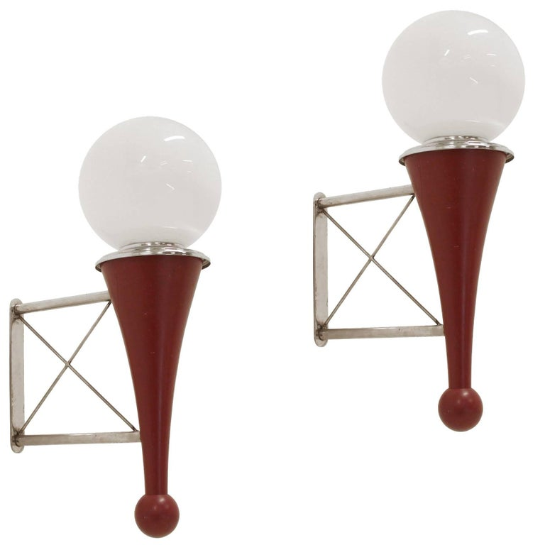 Pair of Midcentury Wall Lights, 1950s