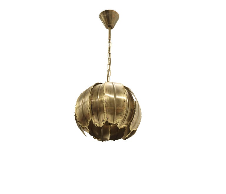 Danish Ceiling Pendant 'Poppy' by Svend Aage Holm Sorensen, 1970s For Sale