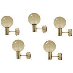 Wall Lights in Brass by Hans-Agne Jakobsson for AWF, 1960s