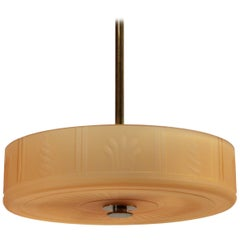 Art Deco Ceiling Hallway Light by Orrefors, 1930s