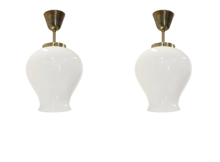 Mid-Century Modern Ceiling Lights in Brass by Birger Dahl for Sønnico, 1960s For Sale