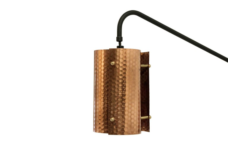 Scandinavian Midcentury Wall Light in Copper, 1960s For Sale at 1stdibs