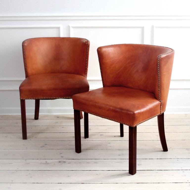 Danish Frits Henningsen, Pair of Easy Chairs For Sale