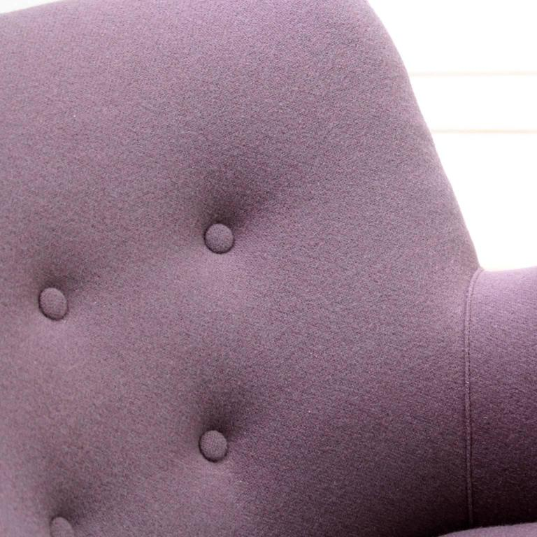 Pair of Mogens Lassen Easy Chairs in Dusty Purple Wool, 1940s In Excellent Condition For Sale In Copenhagen, Copenhagen
