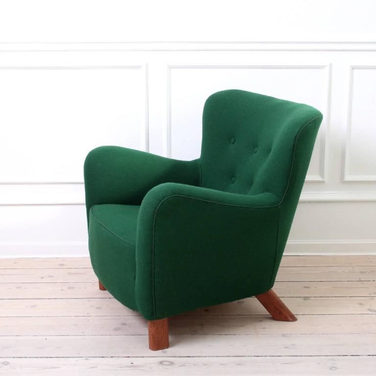 Scandinavian Modern Fritz Hansen, Pair of Easy Chairs Model 1669 For Sale