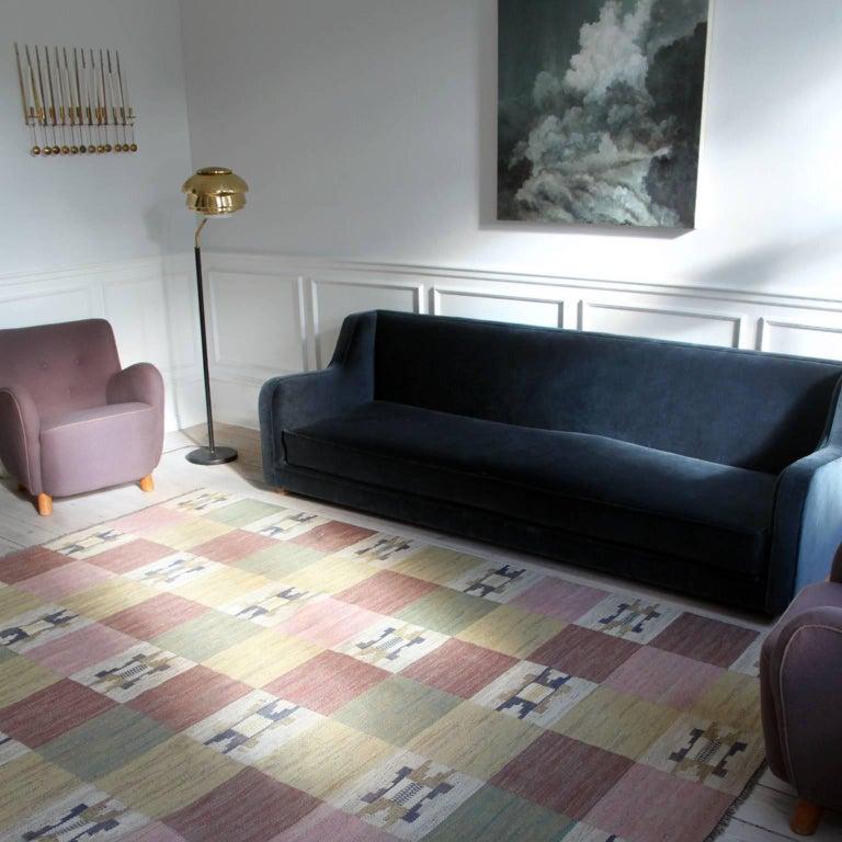 20th Century Large and Early Märta Måås-Fjetterström Flat-Weave Carpet