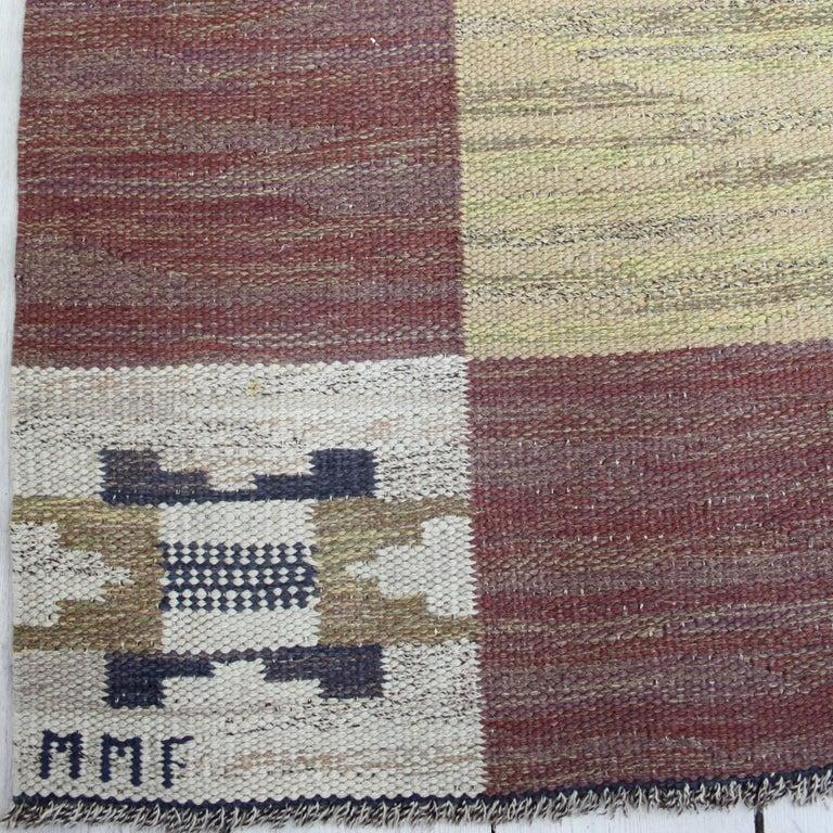 Scandinavian Modern Large and Early Märta Måås-Fjetterström Flat-Weave Carpet