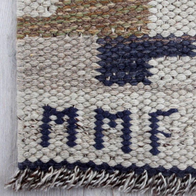 Swedish Large and Early Märta Måås-Fjetterström Flat-Weave Carpet
