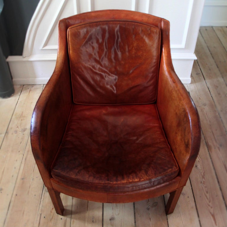 20th Century Exceptional Kaare Klint Mix Chair in Original Niger Leather For Sale