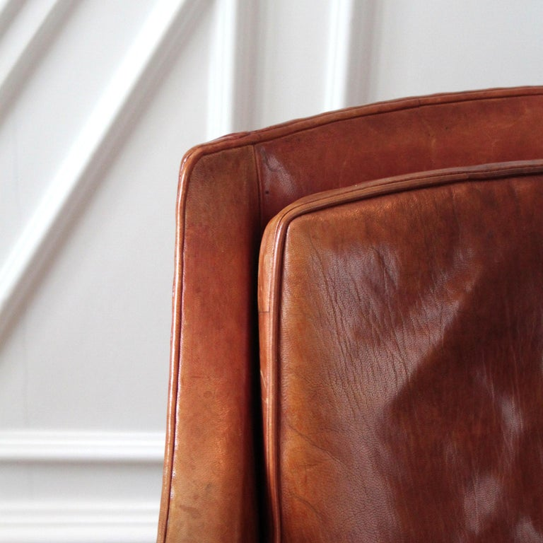 Exceptional Kaare Klint Mix Chair in Original Niger Leather For Sale 2