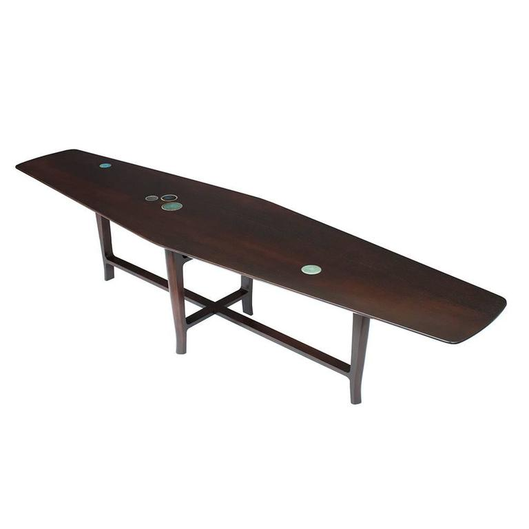 Dunbar Coffee Table By Wormley With Natzler Tiles At 1stdibs