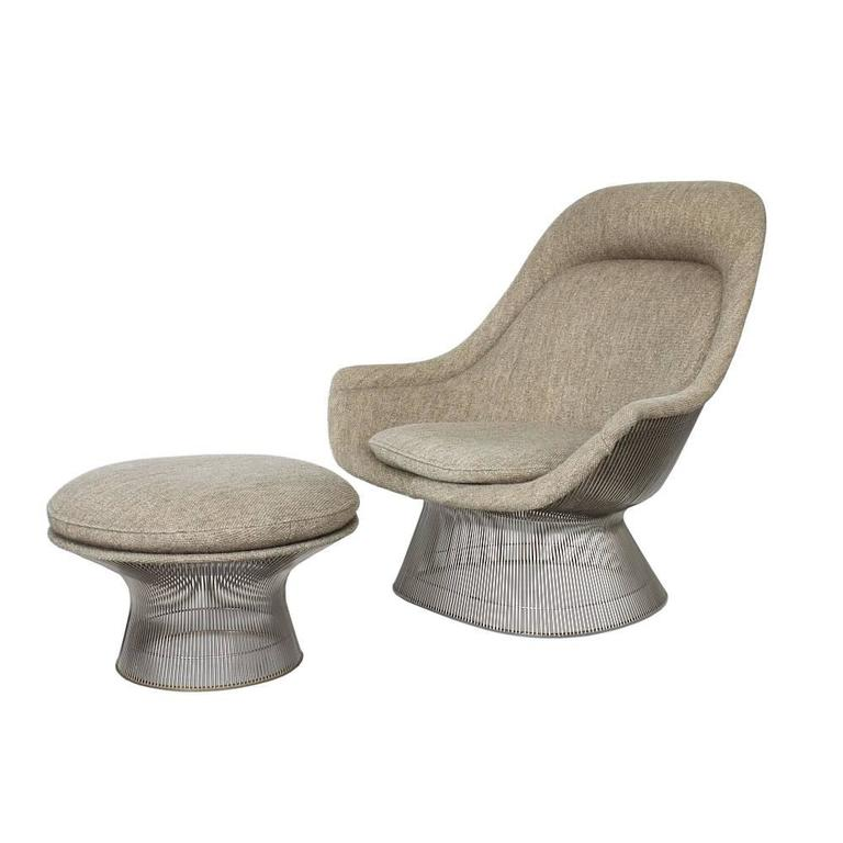 Platner Chair warren platner lounge chair and ottoman at 1stdibs