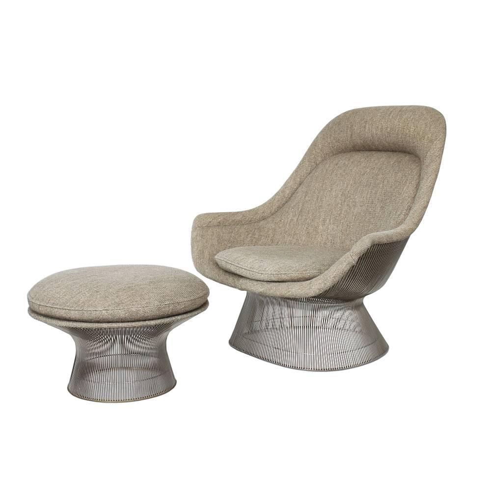 warren platner lounge chair and ottoman at 1stdibs