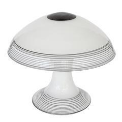 Modernist Italian Black And Red Metal Desk Lamp For Sale