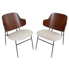 Pair of Ib Kofod Larsen Penguin Lounge Chairs