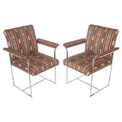 Pair of Chrome Armchairs by Milo Baughman