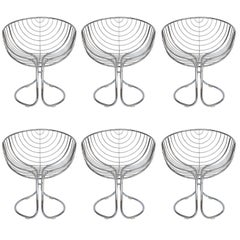 Set of Six Pan Am Chrome Dining Chairs