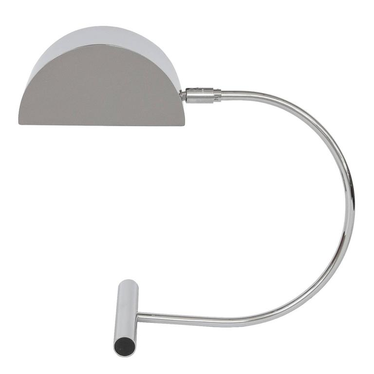 Koch and Lowy Chrome Cantilevered Modernist Desk Lamp