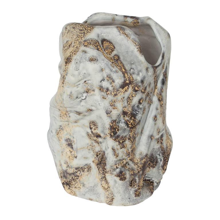 Marcello Fantoni Brutalist Abstract Ceramic Vase
