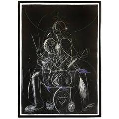 """James C. Harrison """"Bringing Up Demons"""" Framed Drawing"""