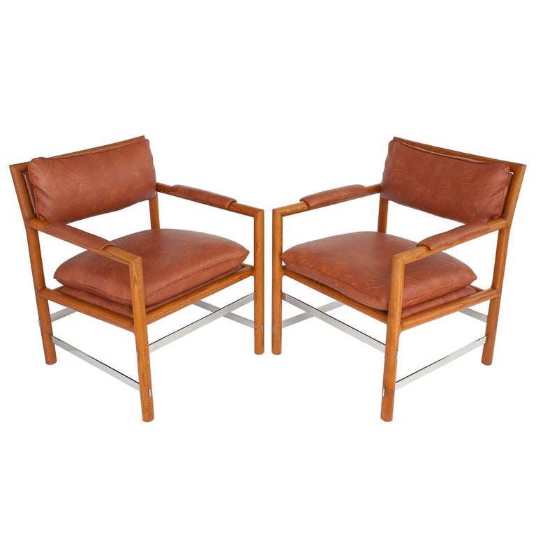 """Pair of """"Edward's Chairs"""" by Edward Wormley for Dunbar"""
