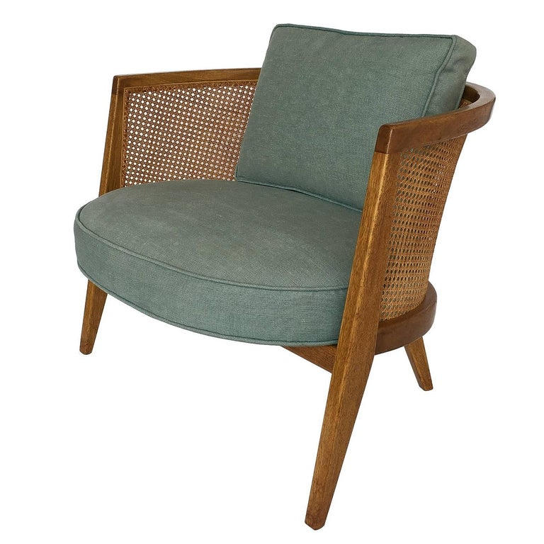 Harvey probber cane curved back lounge chair for sale at for Curved lounge