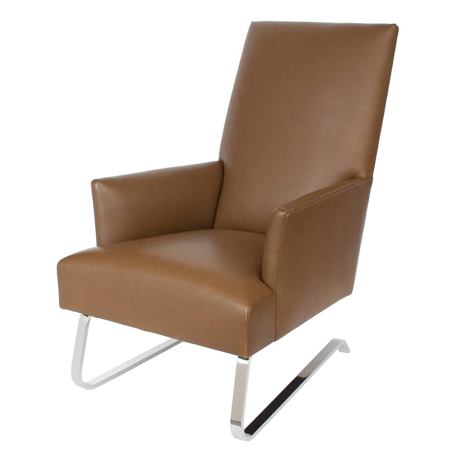 Donghia Leather Odeon Lounge Chair