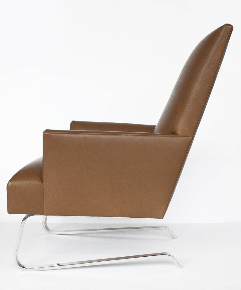 Excellent Donghia Leather Odeon Lounge Chair Evergreenethics Interior Chair Design Evergreenethicsorg