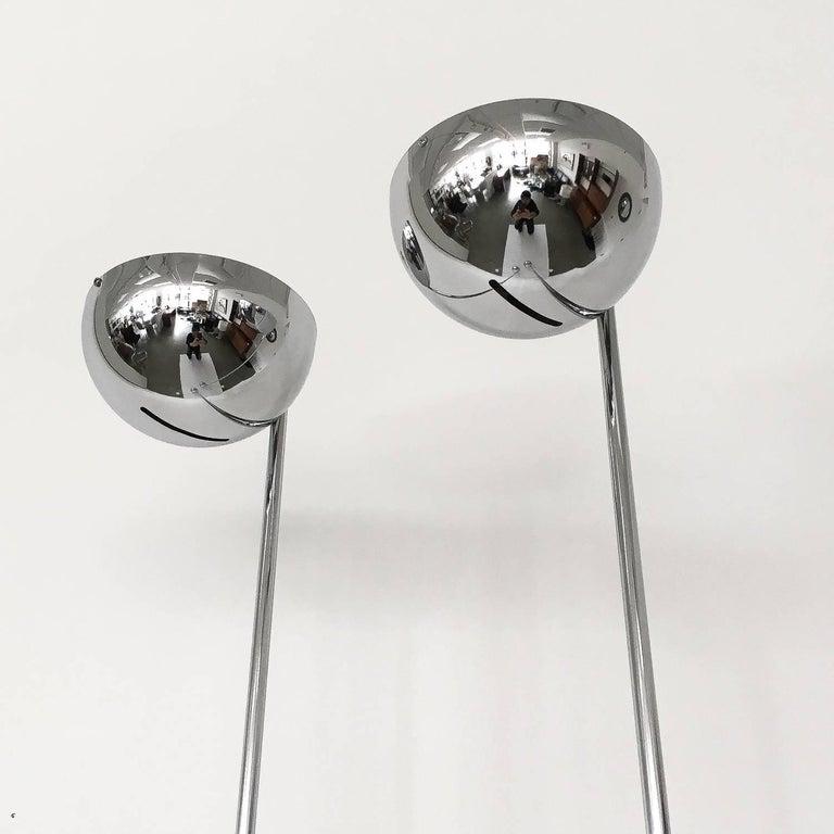 American Pair of Robert Sonneman Chrome Floor Lamps For Sale