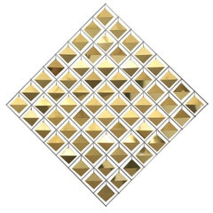 Curtis Jere Brass Diamond Kinetic Wall Sculpture